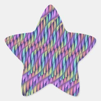 Rayar las ilustraciones en colores pastel del pegatina en forma de estrella