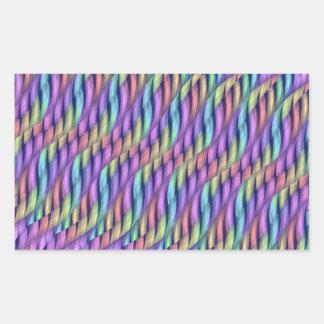 Rayar las ilustraciones en colores pastel del pegatina rectangular
