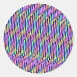 Rayar las ilustraciones en colores pastel del pegatina redonda