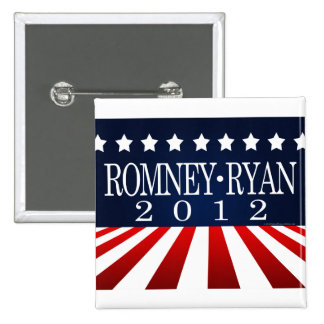 Rayas 2012 de la perspectiva de Romney Ryan Pin