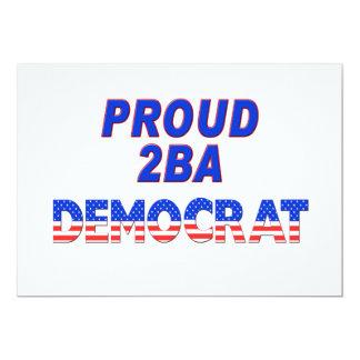 Rayas 2BA orgulloso Demócrata de las estrellas Invitación Personalizada
