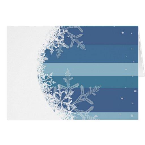 Rayas 4 del copo de nieve tarjeton