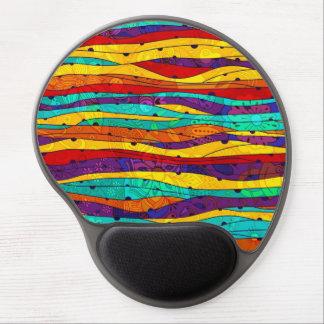 Rayas abstractas coloridas alfombrillas de raton con gel