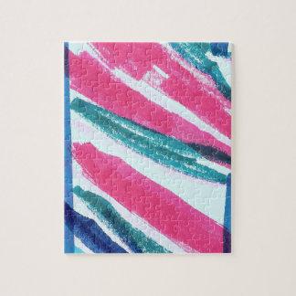 Rayas abstractas coloridas rompecabezas con fotos