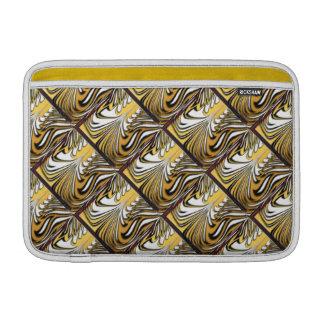 Rayas abstractas del tigre en el oro funda  MacBook