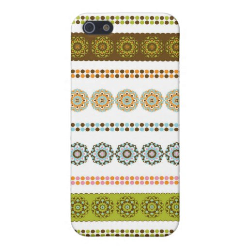 Rayas abstractas florales magníficas iPhone 5 funda