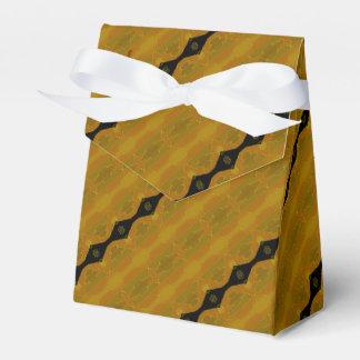 Rayas abstractas modernas en negro, oro, y caja para regalo de boda