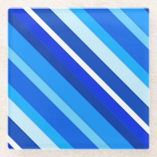 Rayas acodadas del caramelo - cobalto y azul claro
