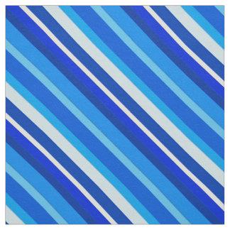 Rayas acodadas del caramelo - cobalto y azul claro telas