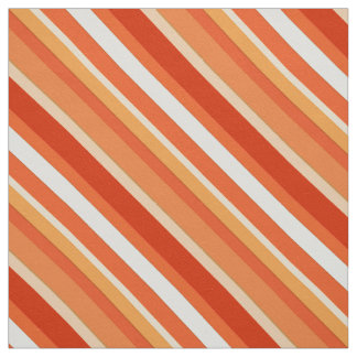 Rayas acodadas del caramelo - naranja y blanco telas
