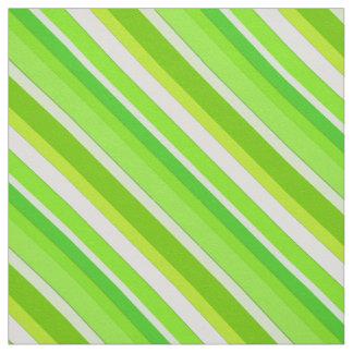 Rayas acodadas del caramelo - verde lima y blanco telas
