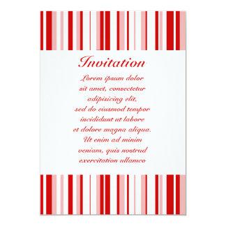 """Rayas al azar rojas + Color de encargo Invitación 5"""" X 7"""""""