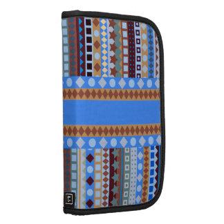 Rayas al sudoeste del zigzag azteca azul tribal planificadores