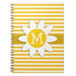 Rayas amarillas ambarinas; Margarita Note Book