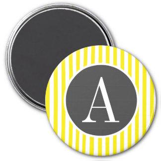 Rayas amarillas de Aureolin; Rayado Imanes Para Frigoríficos