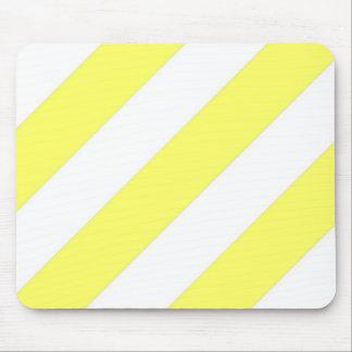 Rayas amarillas de Unmellow Mousepad