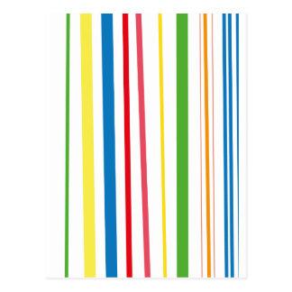 Rayas amarillas del verde azul tarjetas postales