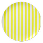 Rayas amarillas plato
