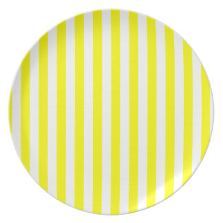 Rayas amarillas platos de comidas
