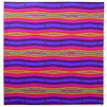 rayas amarillas púrpuras coloridas servilleta imprimida
