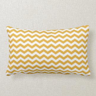 rayas amarillas soleadas brillantes del zigzag del almohadas