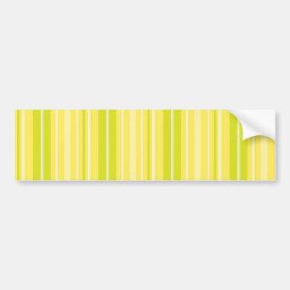 Rayas amarillas verdes de neón brillantes pegatina de parachoque