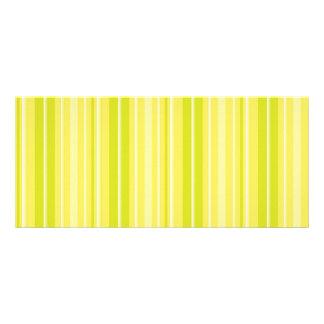 Rayas amarillas verdes de neón brillantes lonas personalizadas