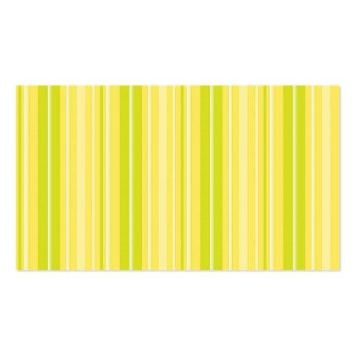 Rayas amarillas verdes de neón brillantes tarjeta de visita