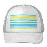Rayas amarillas y blancas de los azules cielos gorra