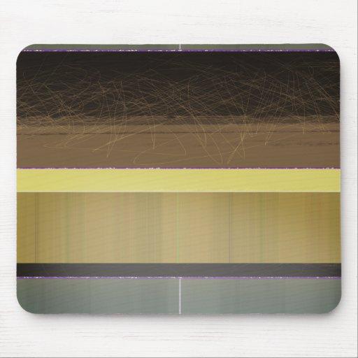 Rayas amarillas y marrones abstractas tapetes de ratones
