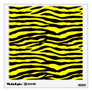 Rayas amarillas y negras del tigre vinilo