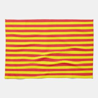 Rayas amarillas y rojas toallas de cocina