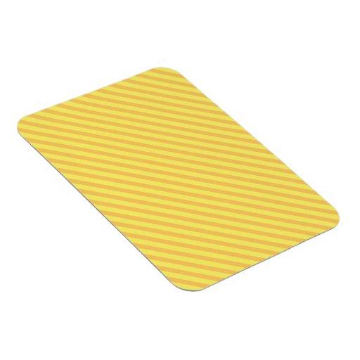 Rayas amarillo-naranja diagonales imanes de vinilo