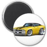 Rayas Amarillo-Negras 1968 de Chevelle Iman Para Frigorífico