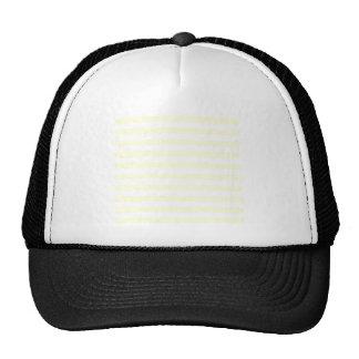 Rayas amplias - blancas y amarillas claras gorras de camionero