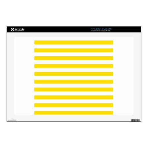 Rayas amplias - blancas y amarillo de oro portátil calcomanía