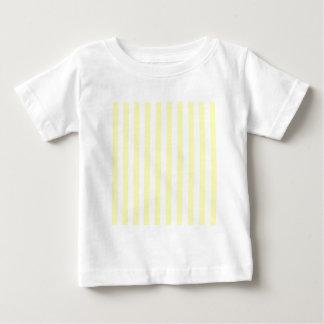 Rayas amplias - blancas y amarillo eléctrico camisetas