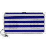 Rayas amplias - blancas y azul marino laptop altavoces