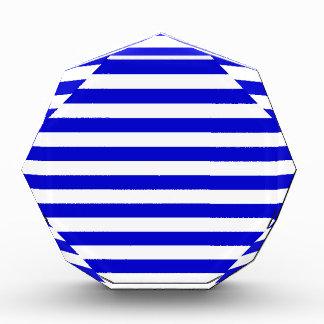 Rayas amplias - blancas y azul medio