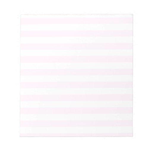 Rayas amplias - blancas y cordón rosado bloc