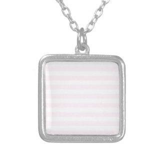 Rayas amplias - blancas y cordón rosado collares personalizados