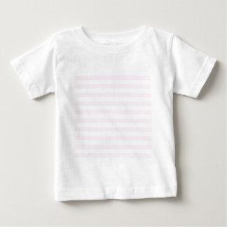 Rayas amplias - blancas y cordón rosado playeras