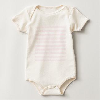 Rayas amplias - blancas y cordón rosado mameluco