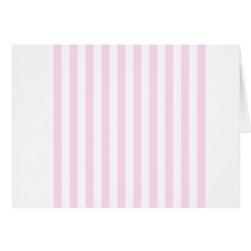 Rayas amplias - blancas y cordón rosado felicitaciones