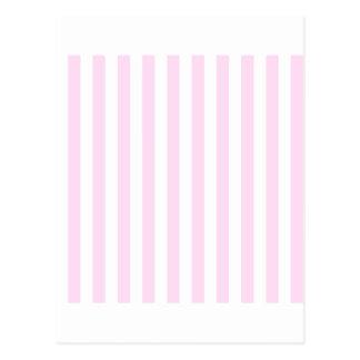 Rayas amplias - blancas y cordón rosado tarjetas postales