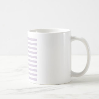 Rayas amplias - blancas y lavanda lánguida taza