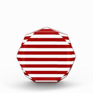 Rayas amplias - blancas y rojo oscuro de Apple de