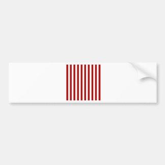 Rayas amplias - blancas y rojo oscuro de Apple de Pegatina De Parachoque