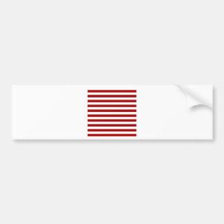 Rayas amplias - blancas y rojo oscuro de Apple de Etiqueta De Parachoque