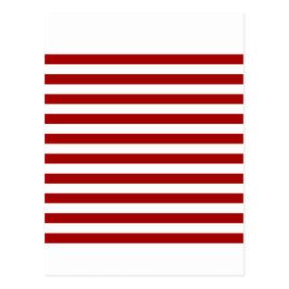 Rayas amplias - blancas y rojo oscuro de Apple de Postal